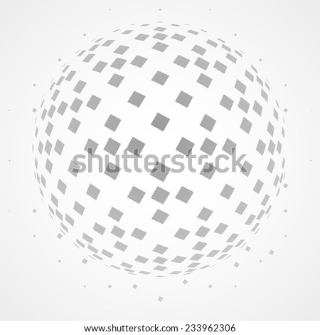 Abstract dotted globe - stock vector