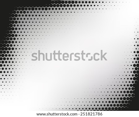 Abstract dotted halftone black and white background - stock vector