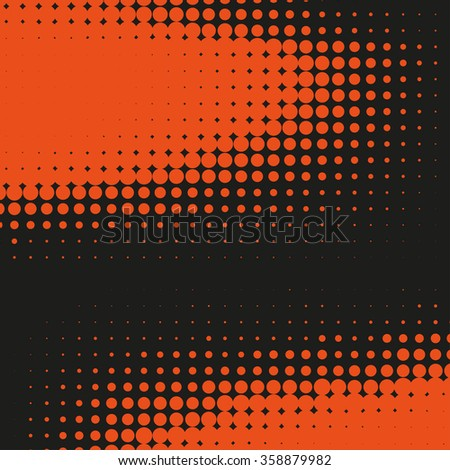 Abstract dotted vector background. Halftone effect - stock vector