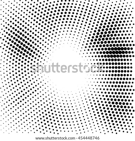 Abstract dotted vector background - Halftone effect - Ideal as halftone background design - Simple black and white color - stock vector