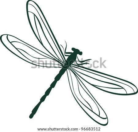 abstract dragonfly. Abstract vector illustration - stock vector