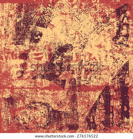 abstract drawing background. grunge textures. vector illustration. - stock vector