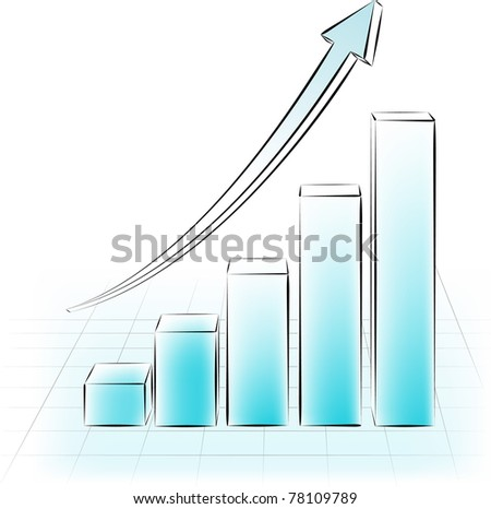 abstract drawing 3d sketchy graphic. Vector illustration - stock vector