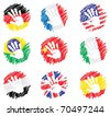 Abstract drawing - flags - stock vector