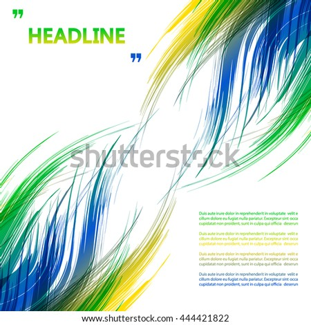 Abstract drawing, the torch flame. Holiday, vacation poster. Vector illustration. Symbol colors of summer Olympic games 2016. RIO. Can be used in cover, book design, website background, advertising. - stock vector