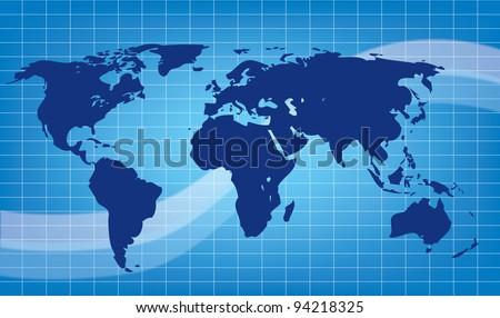 abstract earth blue vector illustration - stock vector