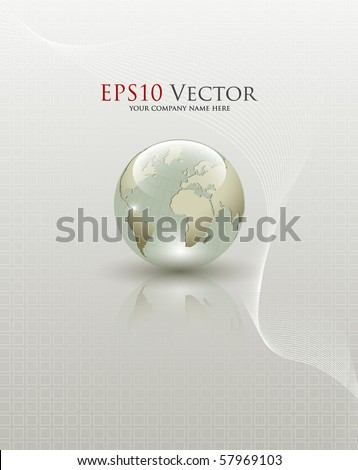 Abstract Earth globe composition - vector illustration - stock vector