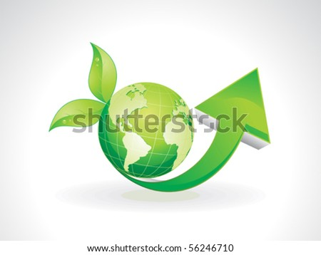 abstract eco based theme vector illustration - stock vector