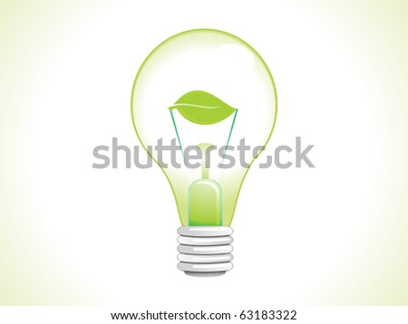 abstract eco bulb vector illustration - stock vector