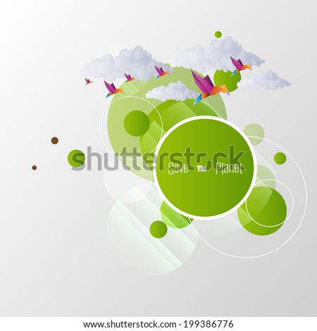 Abstract Eco Illustration Design