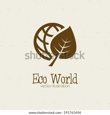 abstract eco world symbol on a white background - stock vector