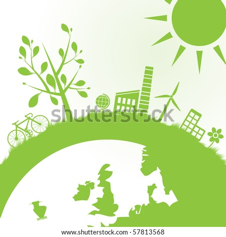 abstract ecology and power background - vector illustration - stock vector