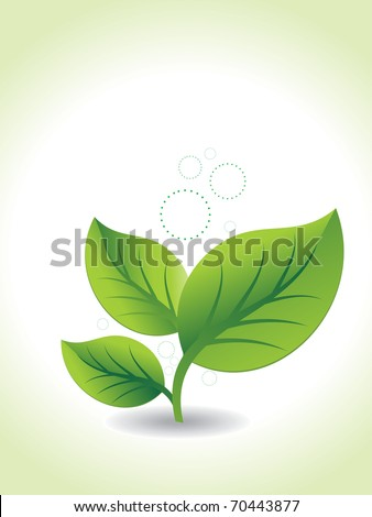 abstract ecology background, vector illustration - stock vector