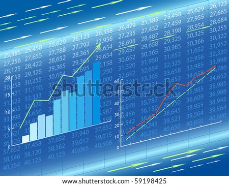 Abstract economic charts. - stock vector