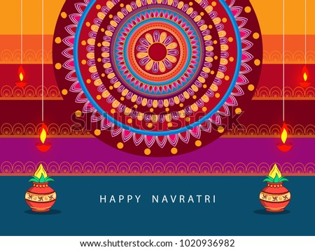 Abstract editable vector hindu festival chaitra stock vector abstract editable vector for hindu festival chaitra navratri 2018 used as greeting card poster m4hsunfo