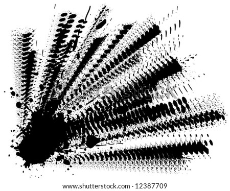 Abstract editable vector illustration of splattered ink