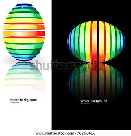 abstract egg. Vector format - stock vector