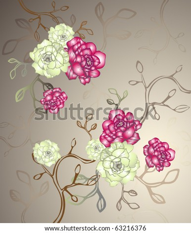 Abstract Elegance floral pattern - stock vector