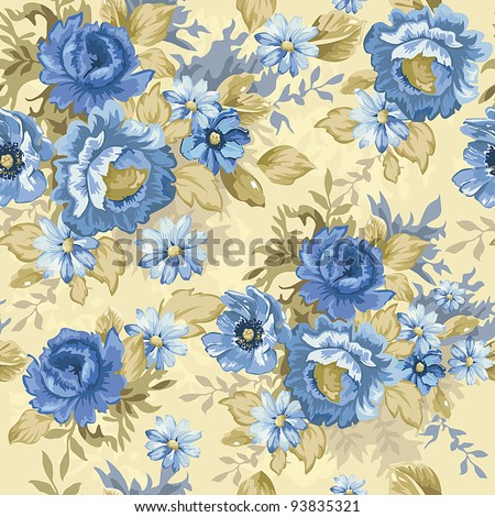 Abstract Elegance seamless floral pattern. Beautiful vector illustration texture. - stock vector