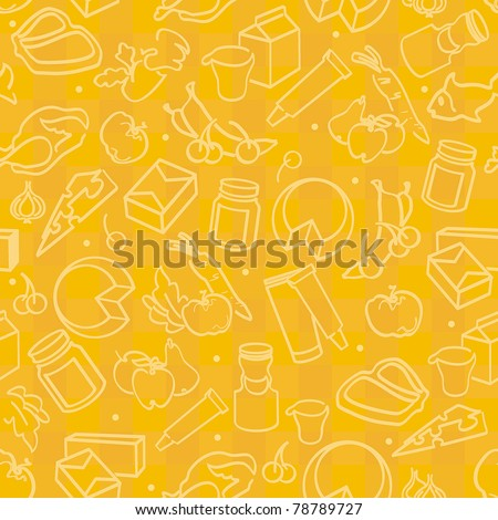 stock vector abstract elegance seamless food pattern vector illustration 78789727 - Каталог — Фотообои «Еда, фрукты, для кухни»