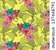 Abstract Elegance Seamless pattern with floral background - stock