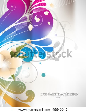abstract elegant colorful foliage elements illustration. eps10 vector format - stock vector