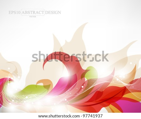 abstract elegant colorful foliage illustration. eps10 vector format - stock vector