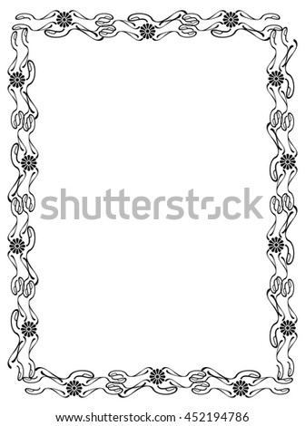 Abstract elegant frame. Design element for advertisements, logo, banners, labels, prints, posters, web, presentation, invitations, weddings, greeting cards, albums. Vector clip art.