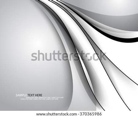 abstract elegant lines and shadows corporate background - stock vector