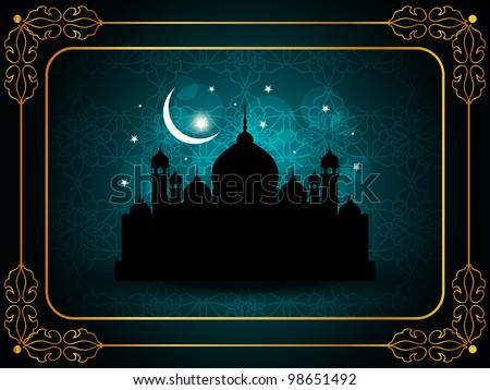 abstract elegant religious eid background. Vector illustration - stock vector