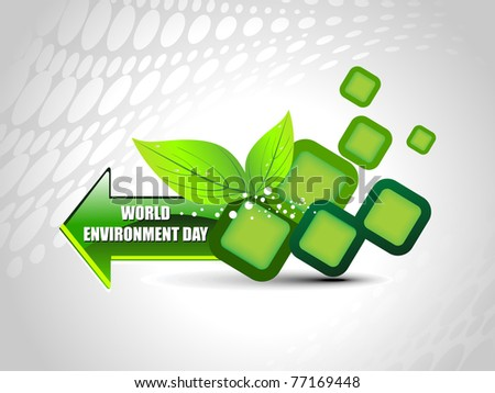 abstract element background for world environment day - stock vector