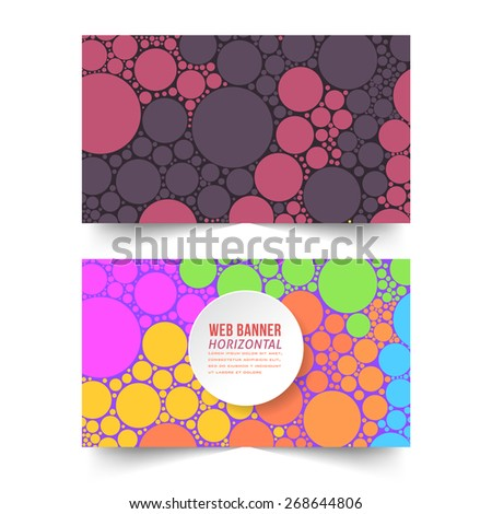 Abstract Ellipse Elements Concept Web Banner Set - stock vector