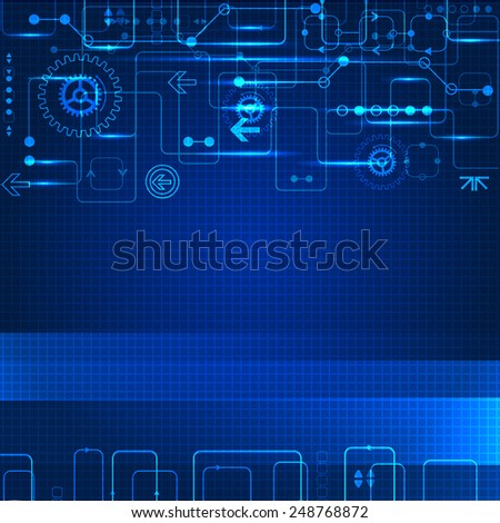 Abstract engineering future technology background - stock vector