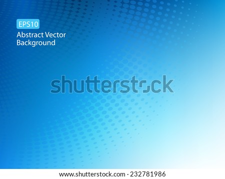 Abstract EPS10 soft blue dot swirl medical or business background illustration with plenty of copy space.  - stock vector