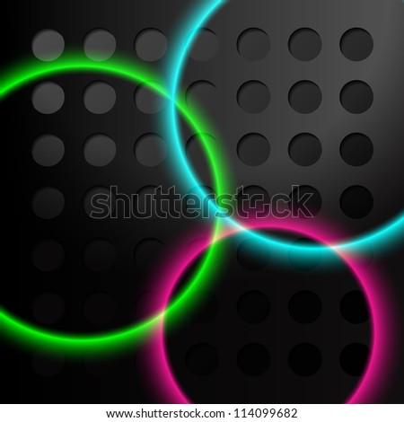 Abstract eps10 vector background, black metal style 3D