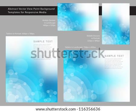 Abstract EPS 10 Vector View Point Background Templates for Responsive Media. - stock vector