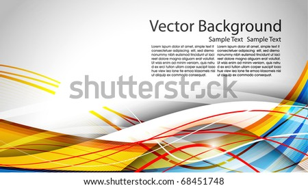 Abstract eps10 Vector Wave. Editable illustration