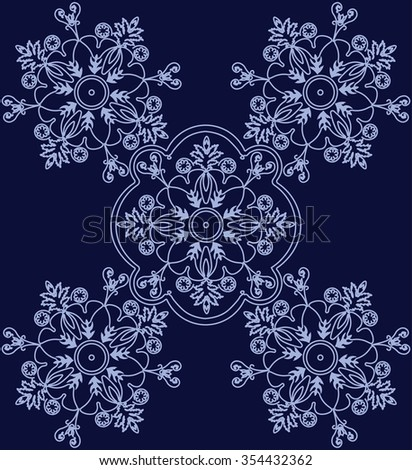 Abstract ethnic floral ornament. Vector