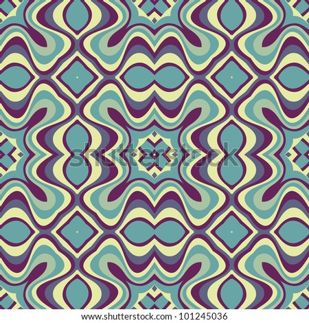 Bright ethnic abstract background seamless pattern with symmetric