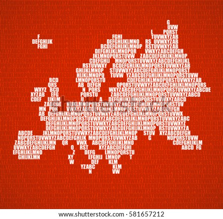 Abstract europe map letters english alphabet stock vector abstract europe map with letters of english alphabet vector background gumiabroncs Image collections