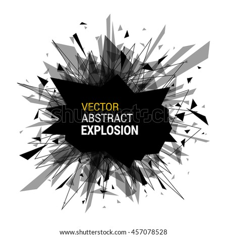 abstract explosion banner isolated on white stock vector 457078528 rh shutterstock com vector explosion sign vector explosion animation