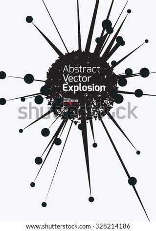 Abstract Explosion Design A4 A3 Horizontal Stock Vector 328844252