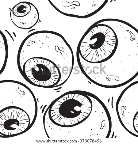 Abstract eye seamless pattern. Seamless eye on the withe background pattern. surrealism background. - stock vector