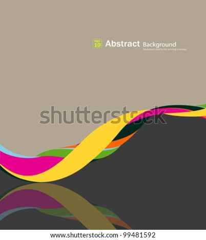 Abstract fabric rolls multicolored spiral, vector illustration - stock vector