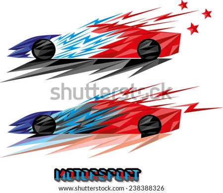 abstract facet design of sports car  - stock vector
