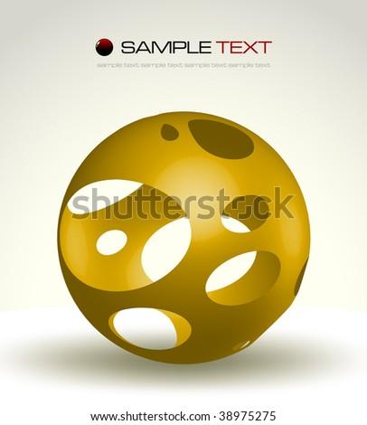 Abstract fantasy object - vector illustration - stock vector