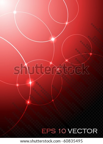 Abstract fantasy red background - stock vector