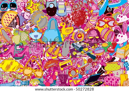 Abstract Fashion Party Background (vector) - stock vector