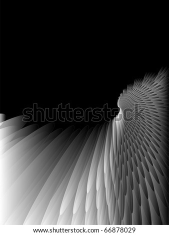Abstract feather background, diagonal texture. Different feather sizes. - stock vector