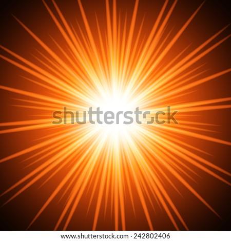 Abstract fiery sun. Vector background for you design, web design, desktop wallpaper or website. - stock vector